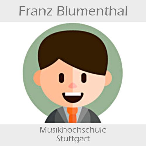 Franz Blumenthal Kontrabass