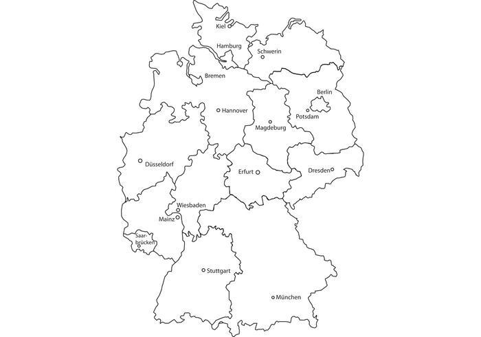 Deutschlandkarte PAK Deutschland PAK NRW BW Bayern PAKINO HanseBass